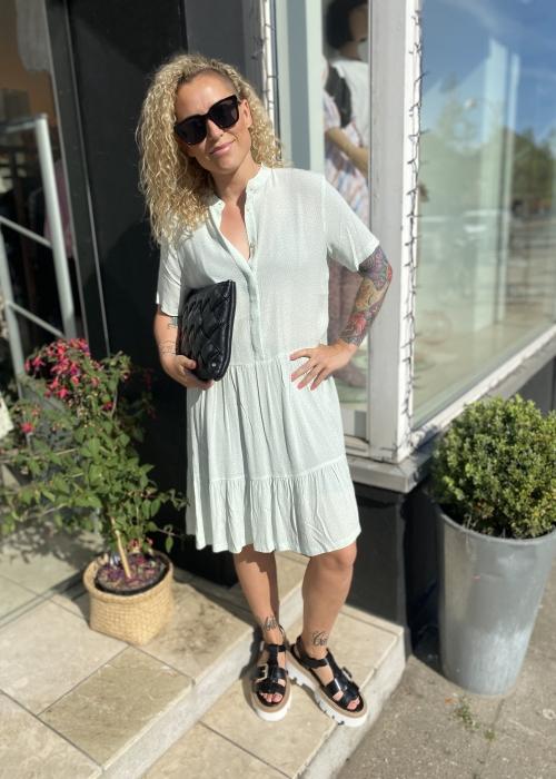 Lecia dress ULYSSES PRINT GREEN