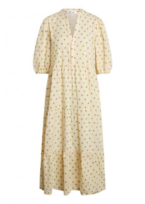 Clover floor dress OFF WHITE / GREEN