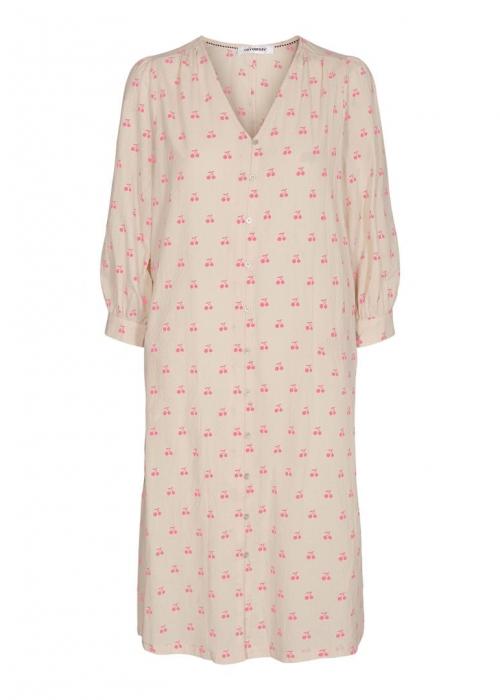 Cherry dress OFF WHITE / PINK