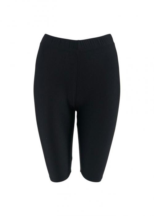 Gaya glossy tight shorts BLACK