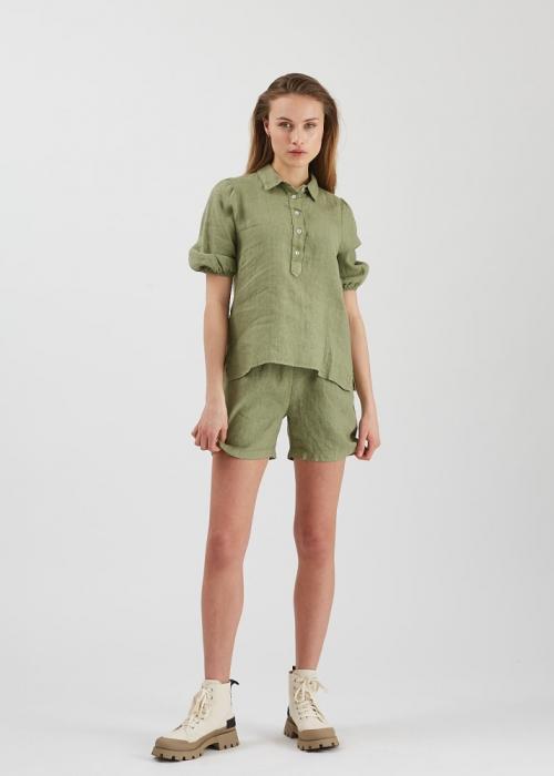 Lunima short sleeved blouse DESERT SAGE