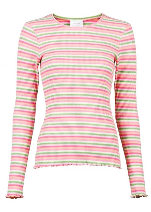 Jose rib blouse PINK