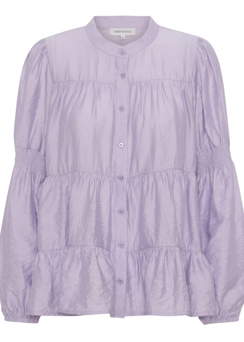 Sanna solid shirt LIGHT PURPLE