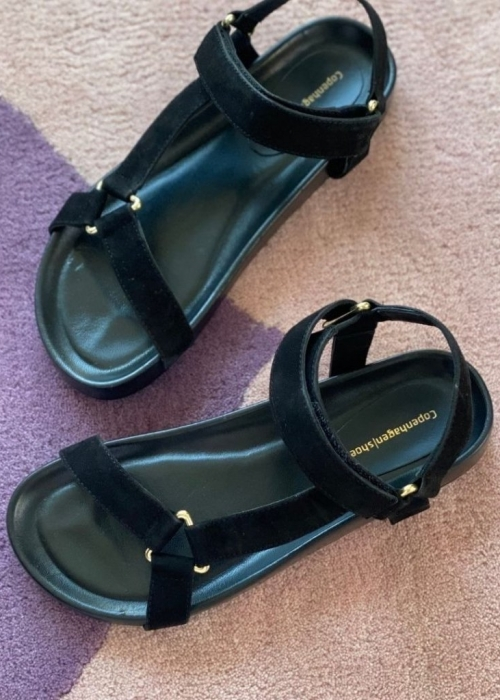 Peace suede sandal BLACK