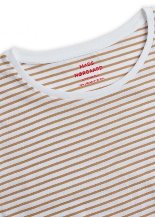 Organic favorite stripe teasy t-shirt WHITE / KELP