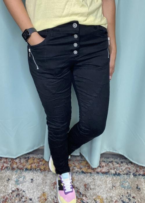 Zipper jeans BLACK