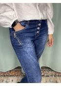 Zipper jeans DARK BLUE