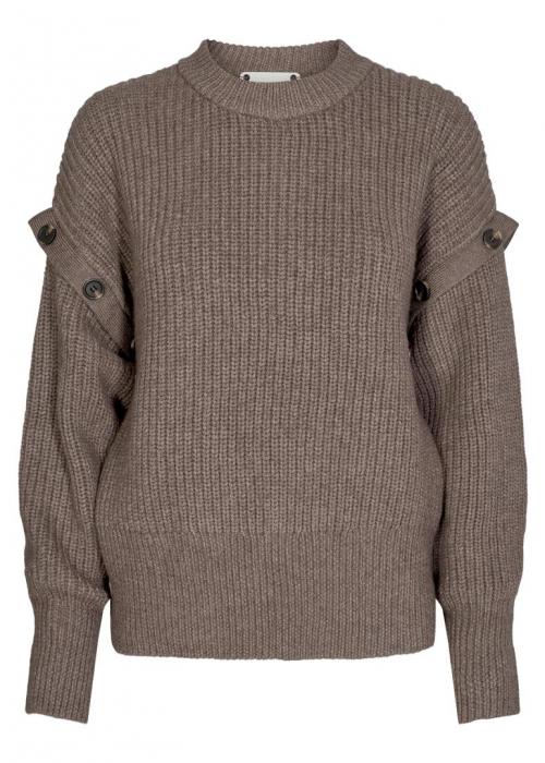 Rowie button knit WALNUT