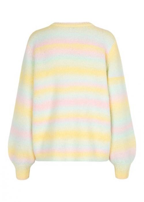 Helanor knit blouse PASTEL RAINBOW