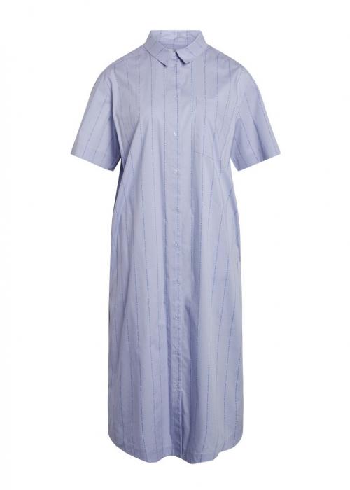 Logo Poplin Dylan Shirt Dress MULTI BRUNNERA BLUE