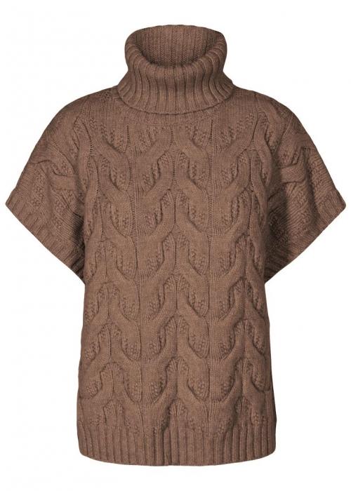 Jenesse cable knit vest WALNUT