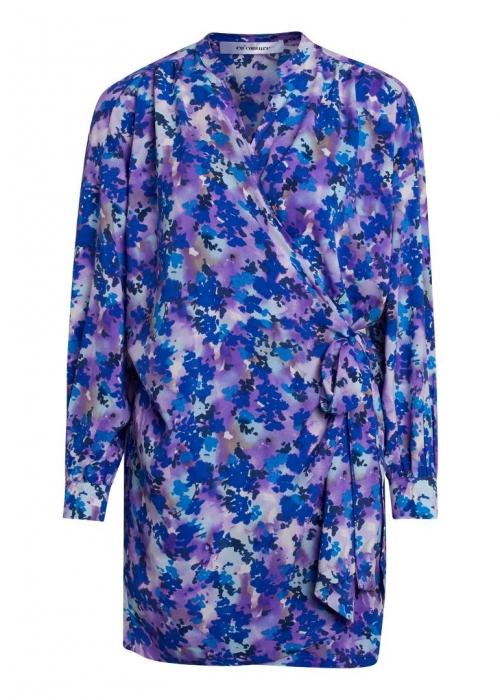 Beatriz wrap dress PURPLE