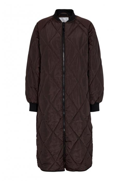 Amanda mix quilt coat MOCCA