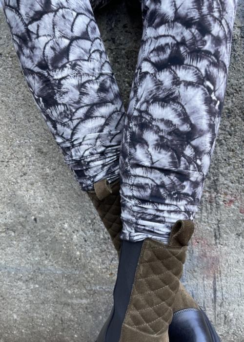 Robyn printed leggings GREY FAN