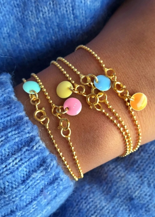 Ball Chain Bracelet LIGHT YELLOW