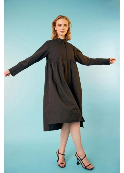 Pianna Shirt Dress BLACK