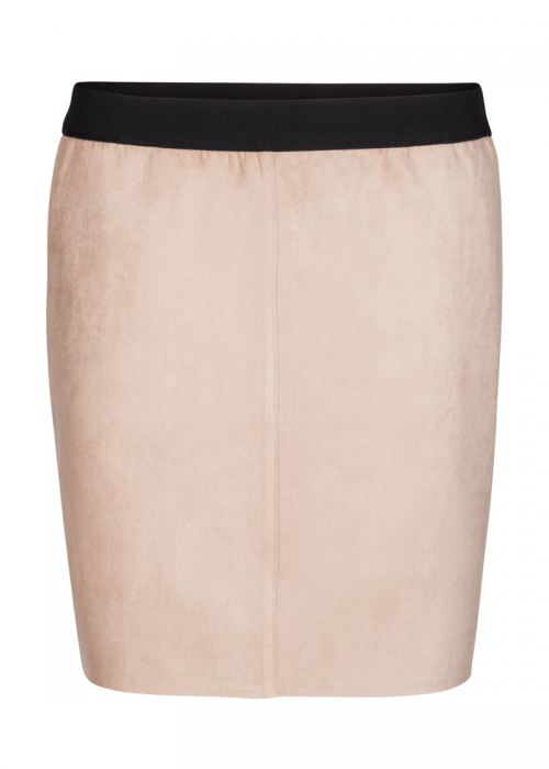 Tanna suede skirt NUDE