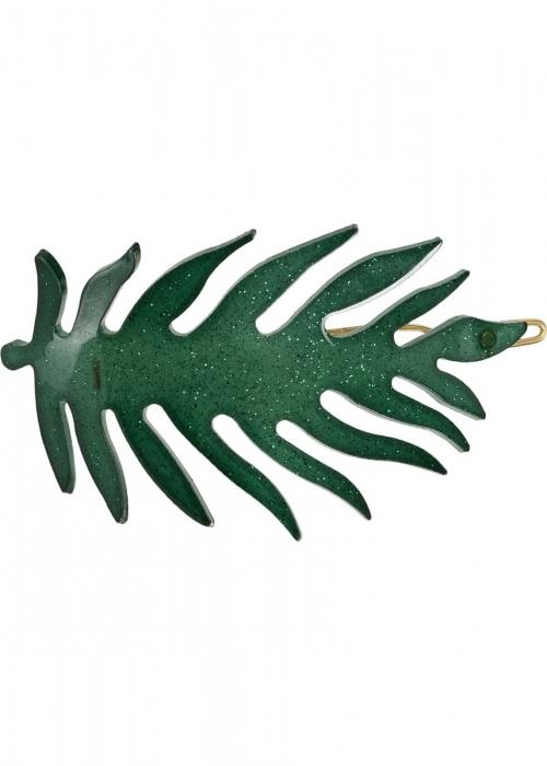 Bladspænde FOREST GREEN GLITTER