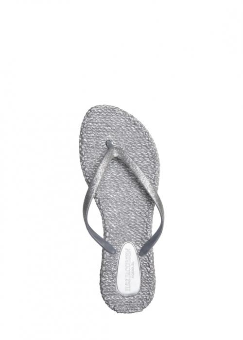 Ilse Jacobsen Flip flops med glitter SILVER