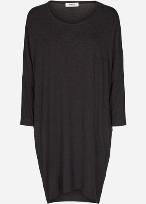 Tilde wool touch dress DARK GREY MELANGE