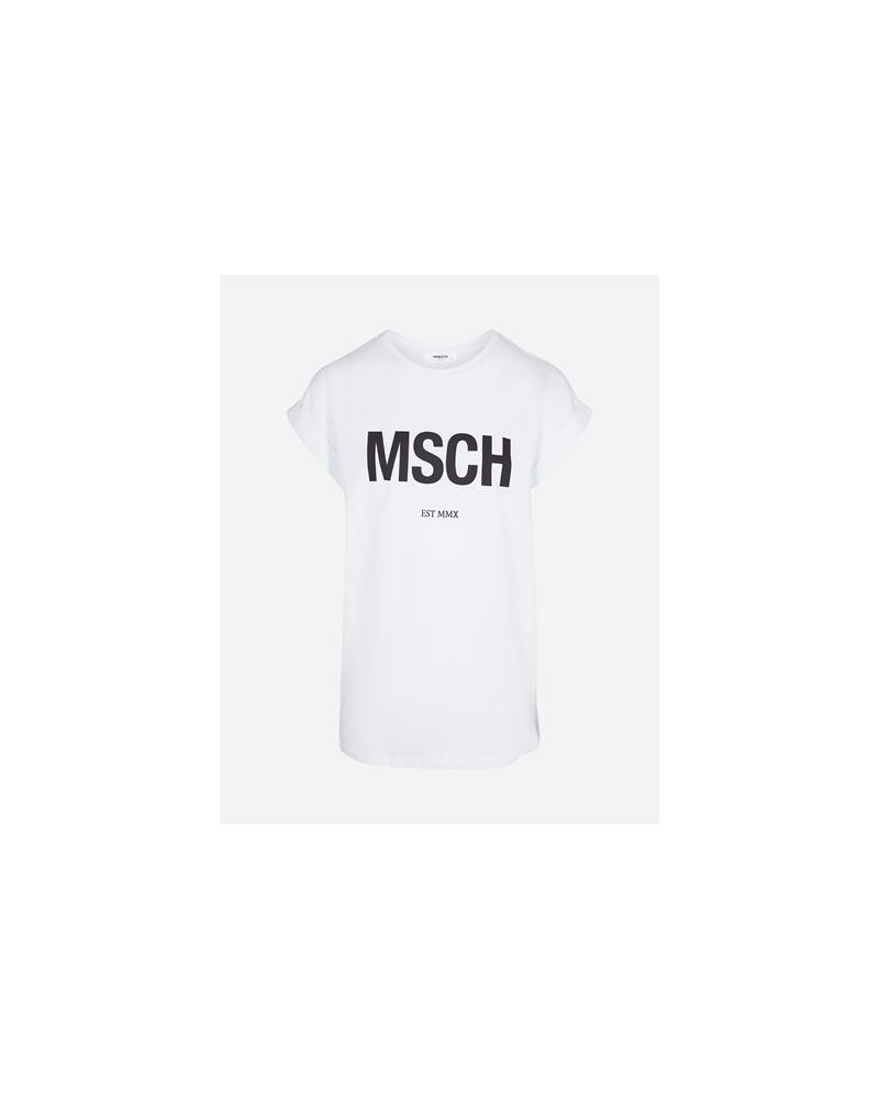 Moss Copenhagen Alva MSCH tee WHITE/BLACK