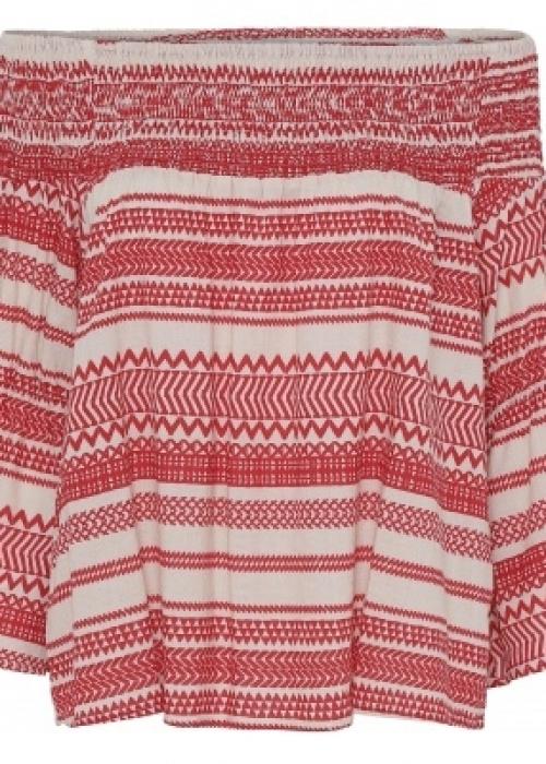 Lotta blouse WHITE/RED
