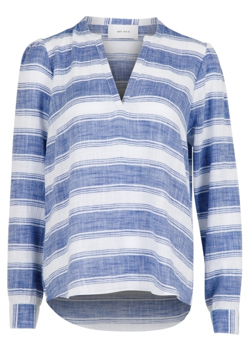 Julie big stripe shirt BLUE