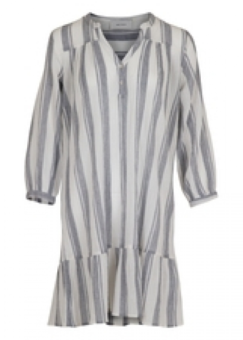 Mai striped dress WHITE