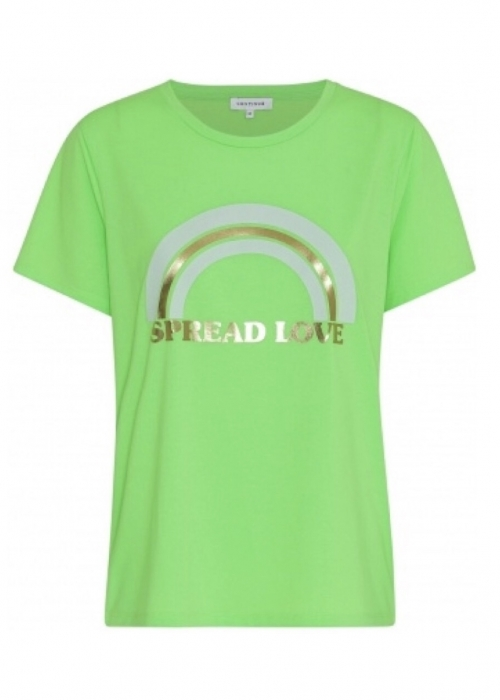 Rainbow t-shirt NEON GREEN