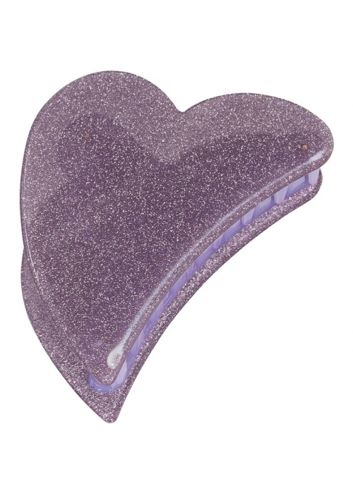 Big heart claw LAVENDEL GLITTER