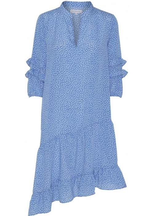Sissel dot 3/4 dress LIGHT BLUE
