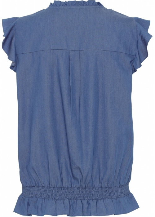 Rasmine chambré top BLUE