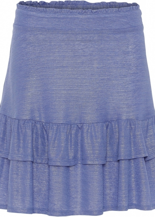 Continue Sally shiny skirt BLUE