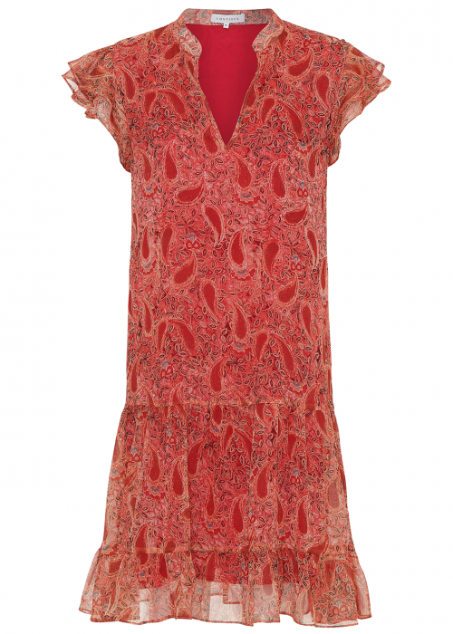 Continue Sasha dress ORANGE PAISLEY