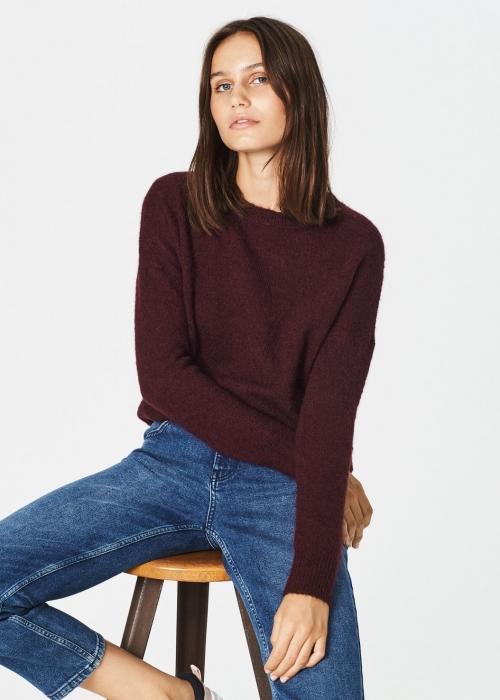 Femme mohair O pullover WINETASTING