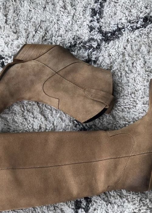 Rosanne long boot BEIGE SUEDE