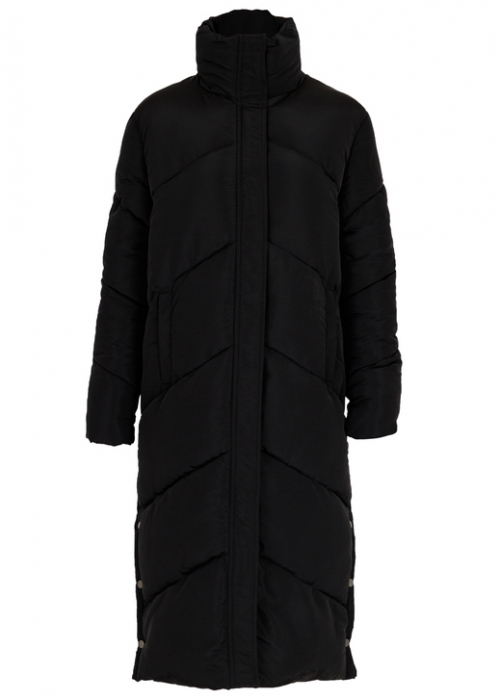 Neo Noir Daylight puffer coat BLACK