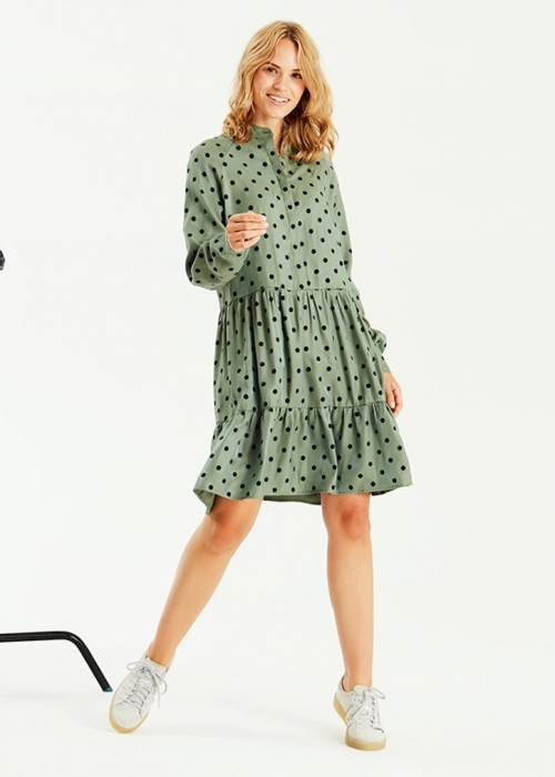 Marra dress, GREEN DOT