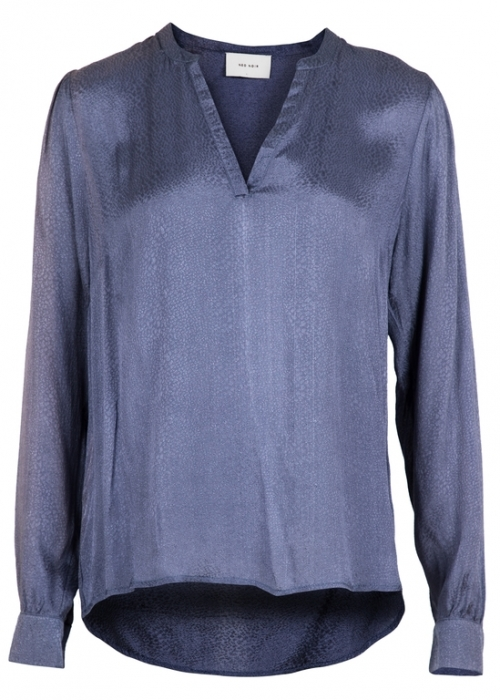 Julie jaquard shirt DUSTY BLUE