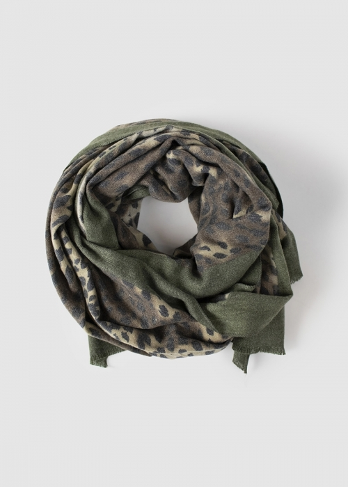 Caron scarf DARK GREEN