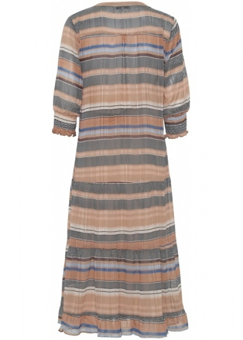 Flora 3/4 dress BLUE STRIPE