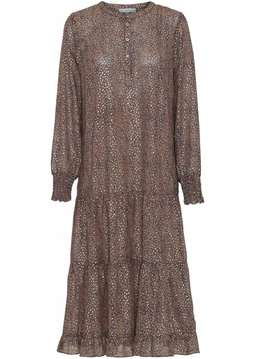 Flora dress GLITTER BROWN