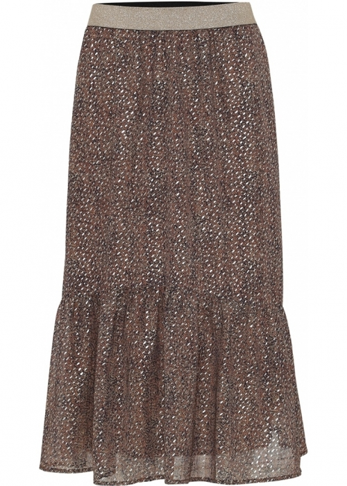 Honey skirt GLITTER BROWN PRINT