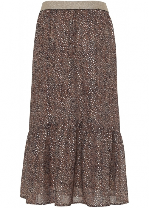 Continue Honey skirt GLITTER BROWN PRINT