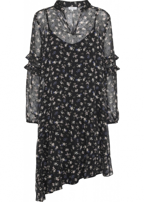 Sissel dress BLUE/BLACK FLOWER