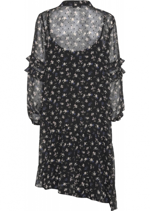 Continue Sissel dress BLUE/BLACK FLOWER
