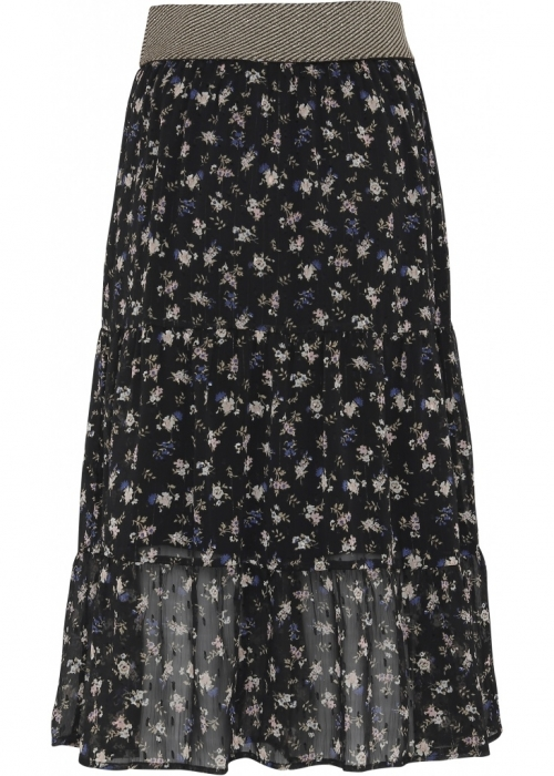 Agnete skirt BLUE/BLACK FLOWER