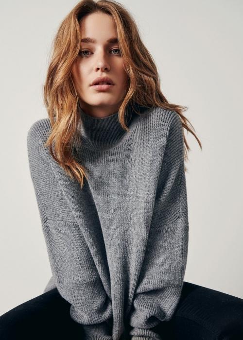Dalina LS pullover MGM GREY MELANGE