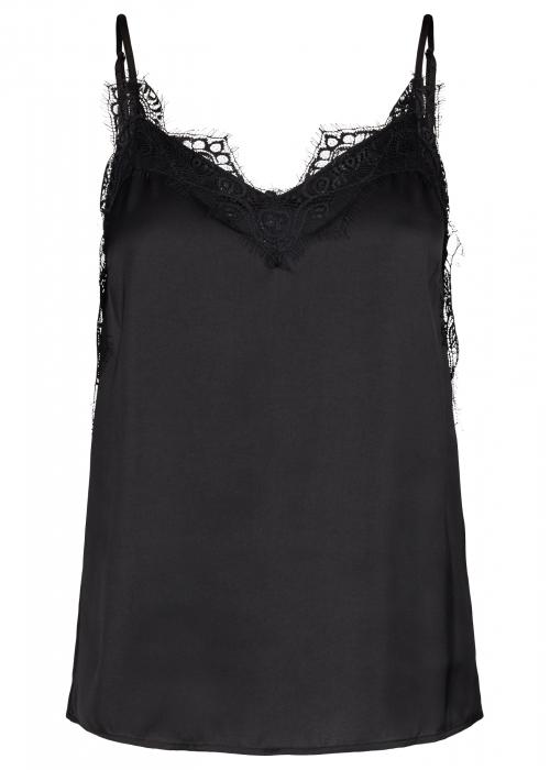 Lity lace singlet BLACK