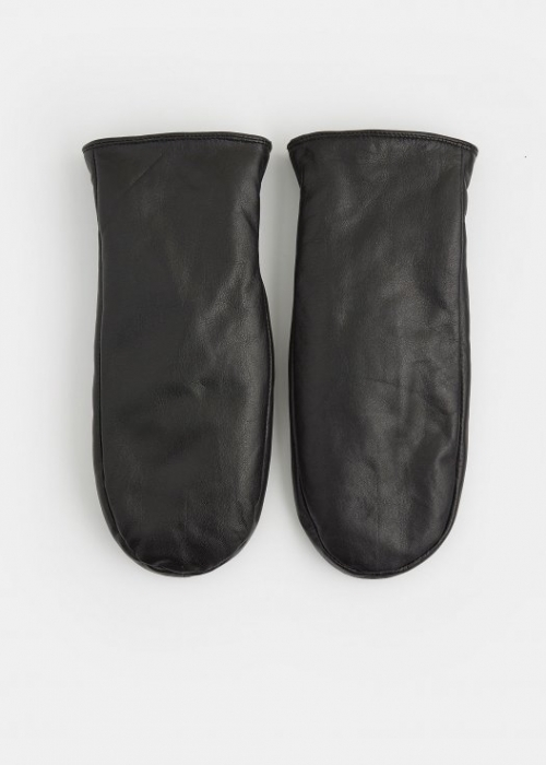 Clarion leather mittens BLACK
